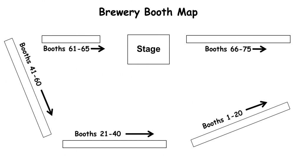 2015 Brewery Booth Map